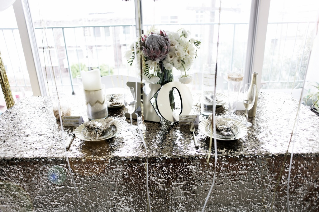 silver sequence tablecloth sequin table linen